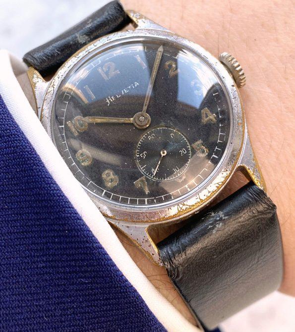 Military Helvetia Vintage Watch German Army WW2 Dienstuhr Deutsches Heer