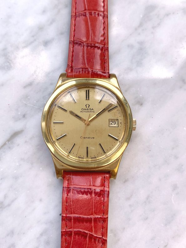 Vintage Omega Geneve Automatic Gold Plated 36mm 1660168