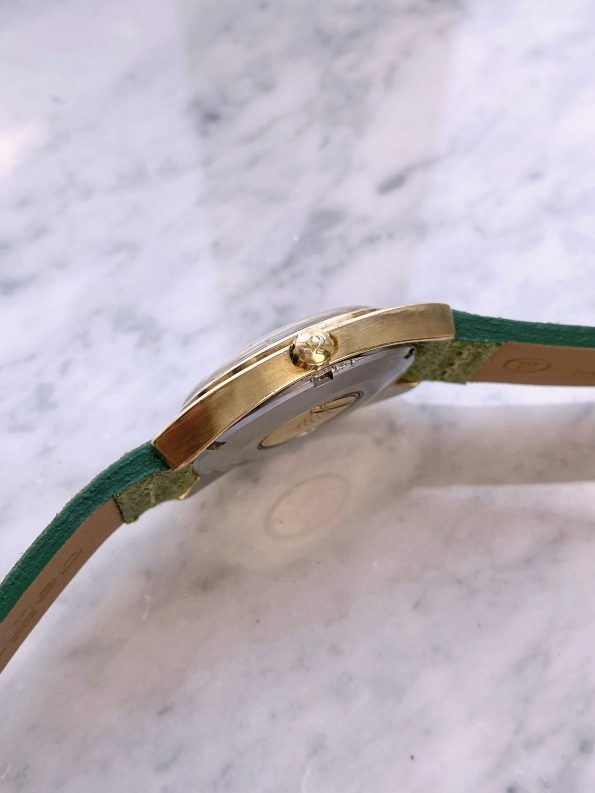 Gold Plated C Shaped Vintage Omega Constellation Automatic Date 168.017