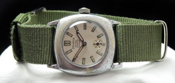 Military Helvetia Vintage Watch Beyer Zurich signed