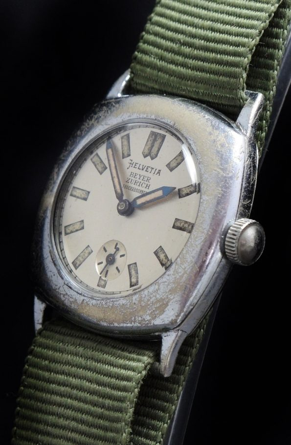 Military Helvetia Vintage Watch Beyer Zurich signed