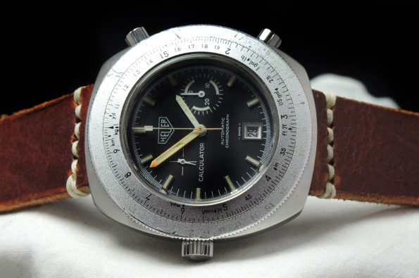 Heuer Calculator Chronograph 46mm Vintage Oversize