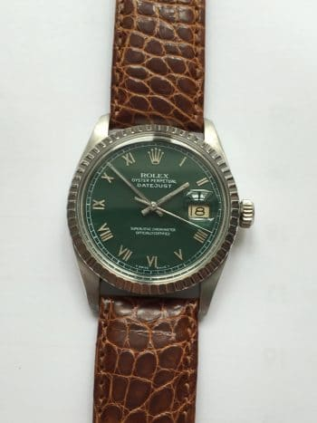 Beautiful Rolex Datejust Automatic green dial Vintage Quickset