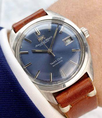 Vintage IWC Yacht Club Automatic blue dial