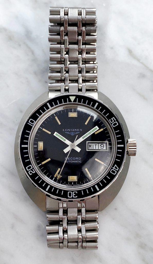 Diver Longines Record Vintage 1970er Day Date