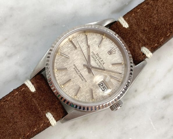 Beautiful Vintage Rolex Datejust Automatic Automatik Linen Dial
