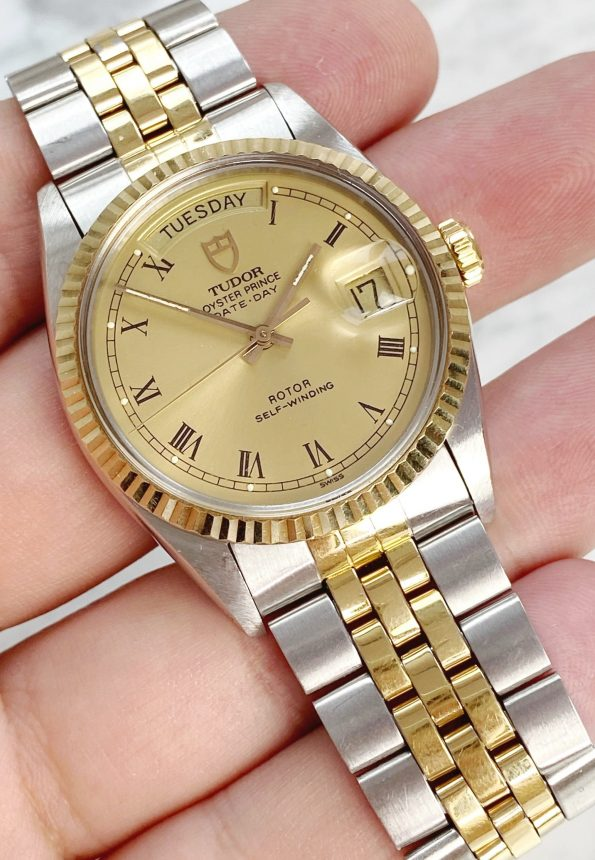 Vintage Two Tone Tudor Prince Day Date Automatic 94613