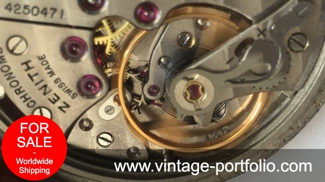 Superrare Zenith cal 135 Chronometer Chronometre Honeycomb dial 35mm Calatrava