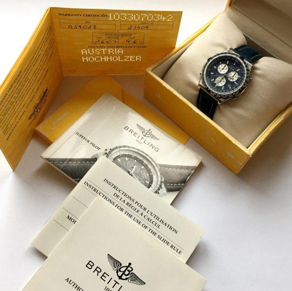 Breitling Jupiter Pilot Navitimer Chronograph Full Set