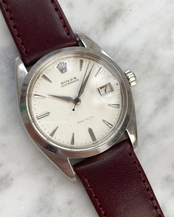 ROULETTE DATE 34mm Rolex Precision Stahl Handaufzug Datum