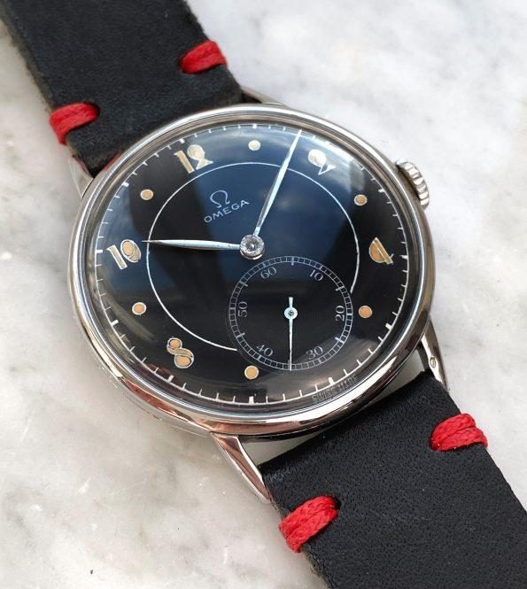 Vintage Omega Oversize Jumbo Restored Black Dial 30t2