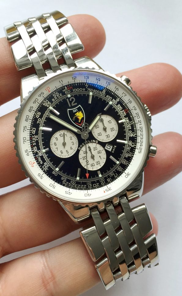 MILITARY Breitling Navitimer Heritage 321 Tigers Top Condition Full Set Limited only 250 pieces made
