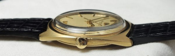 Tolle IWC Solid Gold Vintage Leinen dial