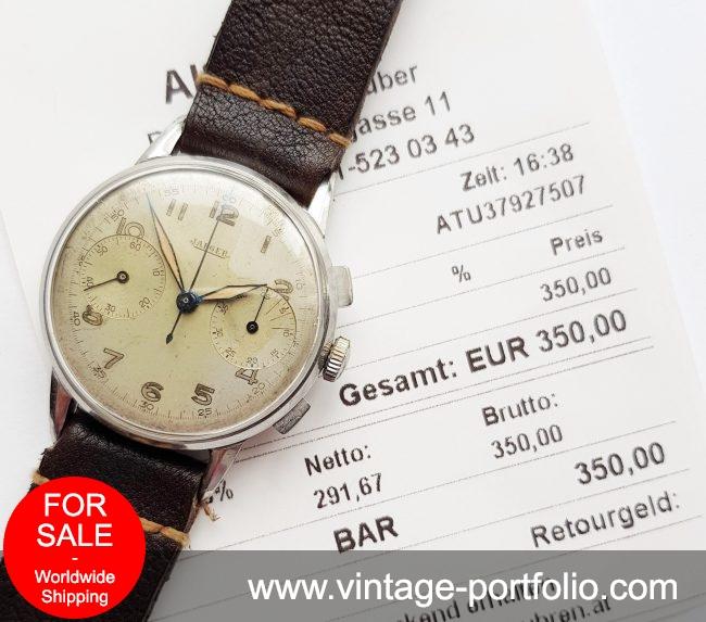 Original Jaeger LeCoultre 35mm Vintage Chronograph