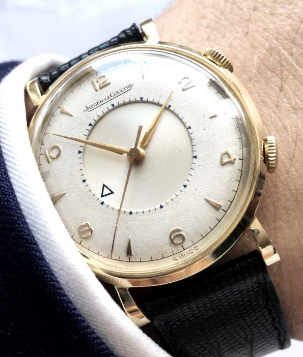 Serviced Jaeger LeCoultre 35mm Memovox Solid Gold