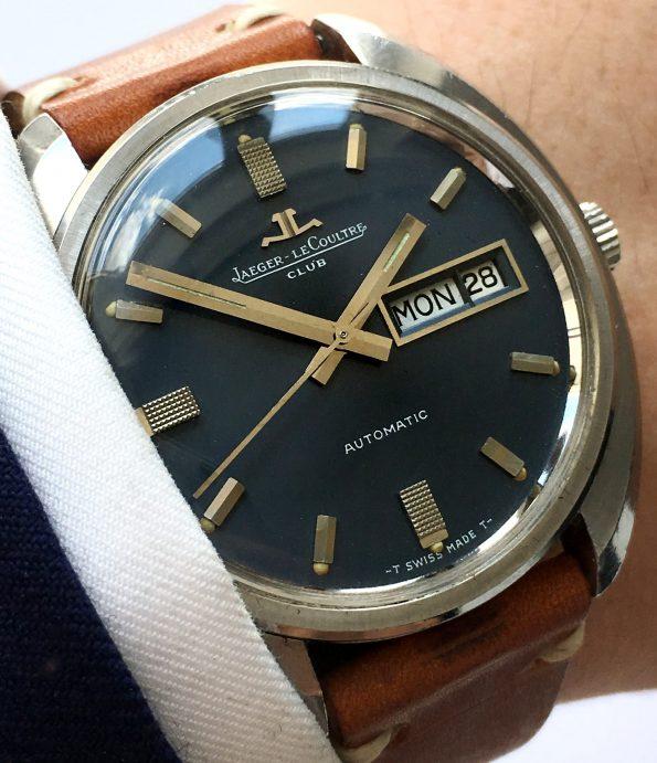 Jaeger LeCoultre Club Automatic Automatik Day Date Blue dial