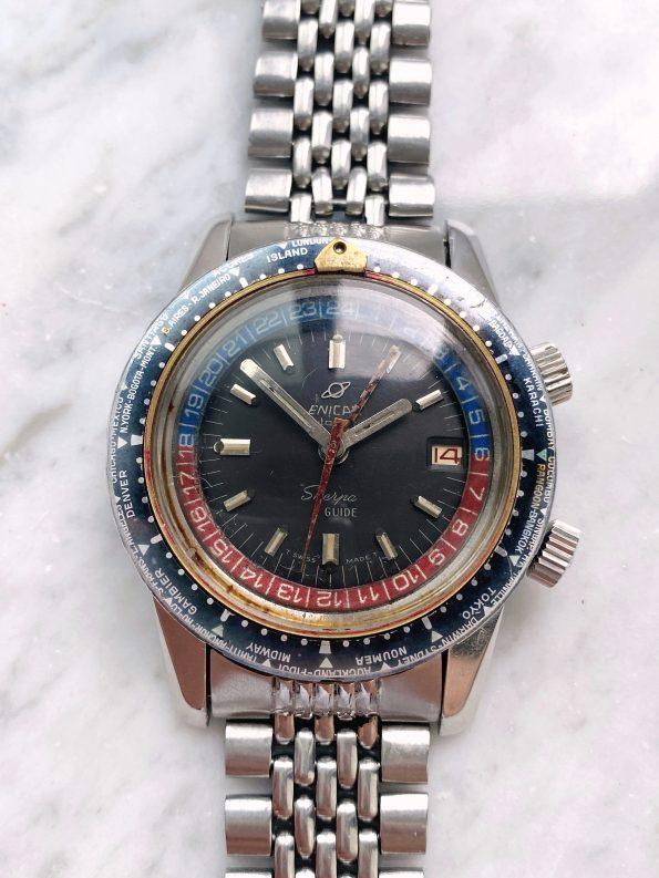 Serviced Enicar Sherpa Guide 600 Diver with original steel bracelet