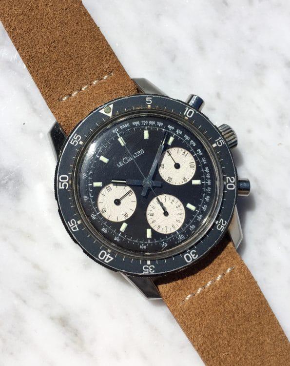 Superrare Jaeger LeCoultre Shark Diver Chronograph Reverse Panda Dial