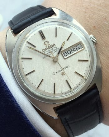 Top Linen Dialed Omega Constellation C Shape Day Date