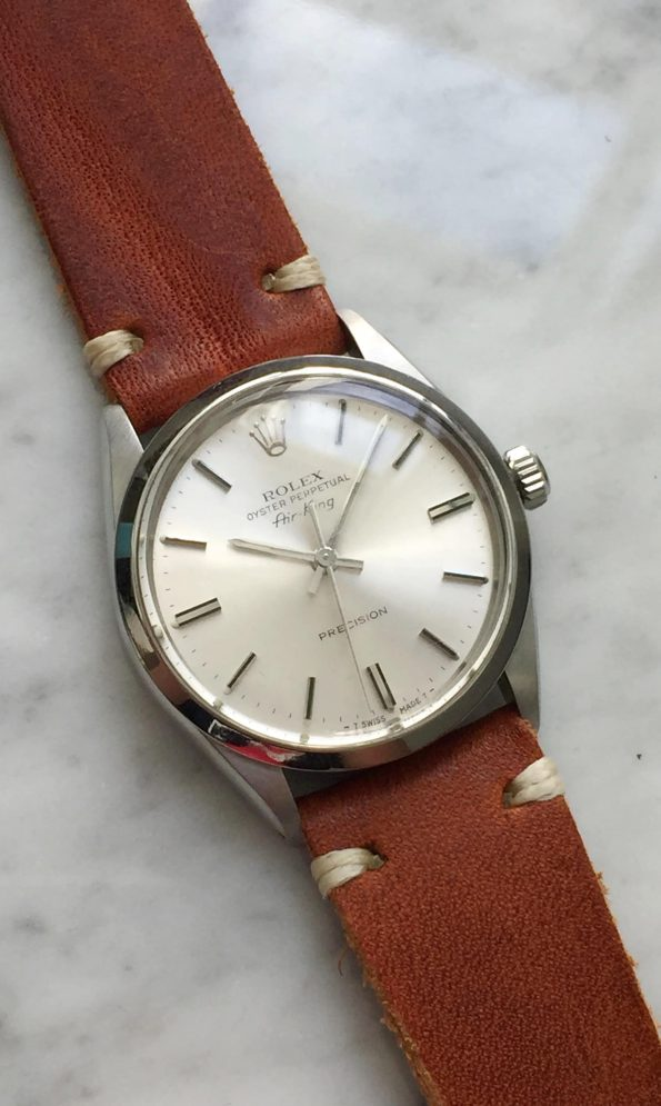 Serviced Rolex Air King Automatic Silver Sunburst Dial