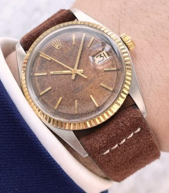 Serviced Rolex Datejust Automatic Vintage with Tropical Chocolate Copper Dial