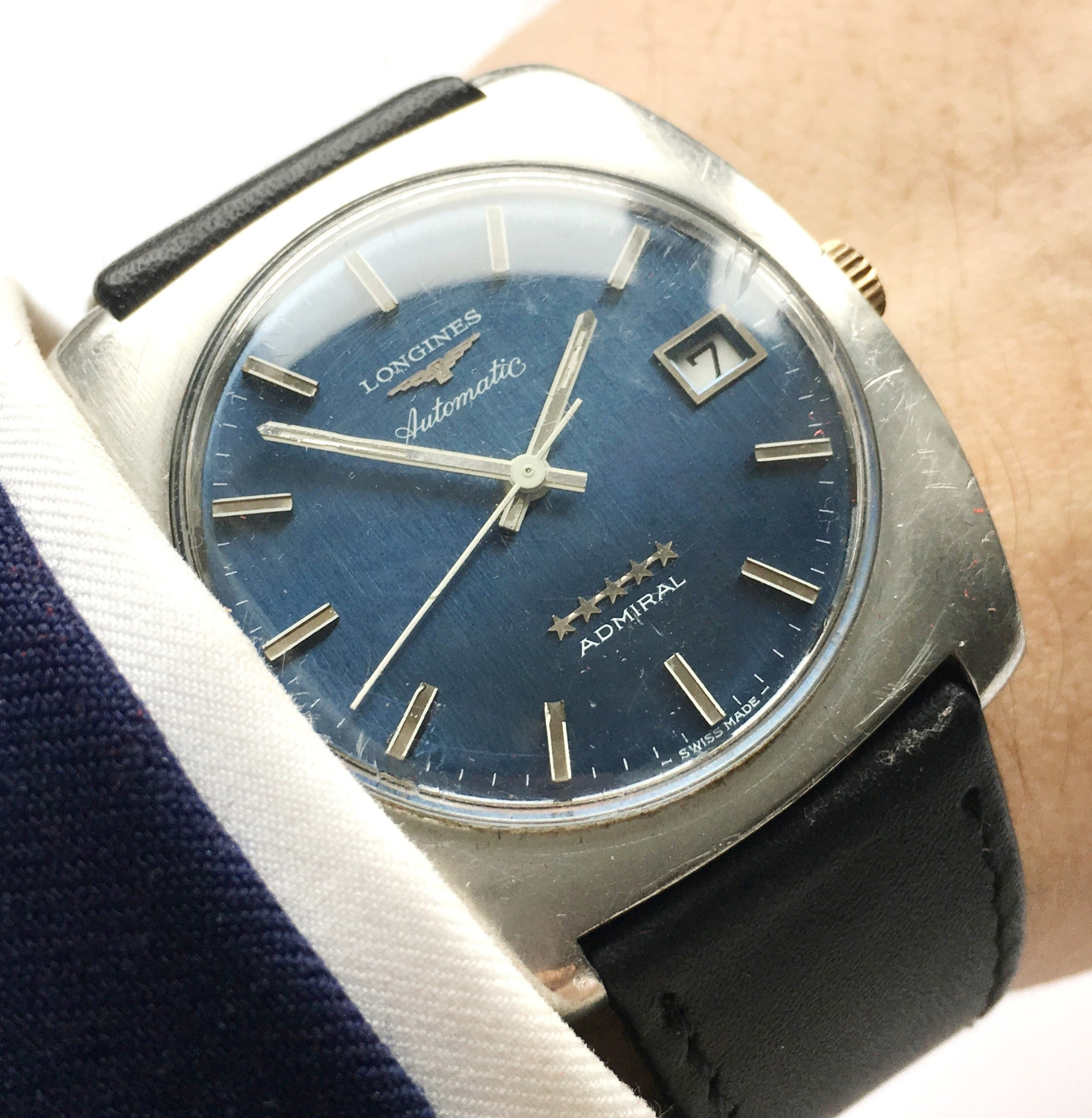 Beautiful Longines Admiral Vintage Automatic blue dial - Vintage ... 204bef88957