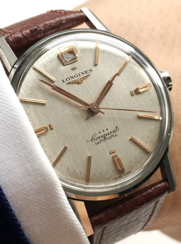 Perfect Longines Automatic Heritage Conquest Linen Dial Vint