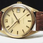 Longines Automatic Ladies Lady Watch solid gold Linen dial