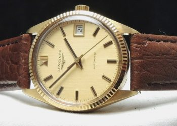 33m Longines Automatic Ladies Lady Watch solid gold Linen dial