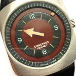 Longines Comet with bordeaux dial and Longines Box