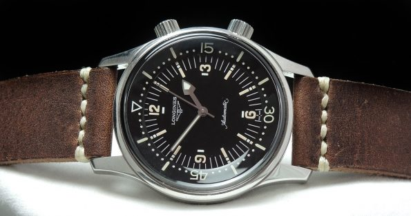 Rare Longines Legend Diver No Date with Papers