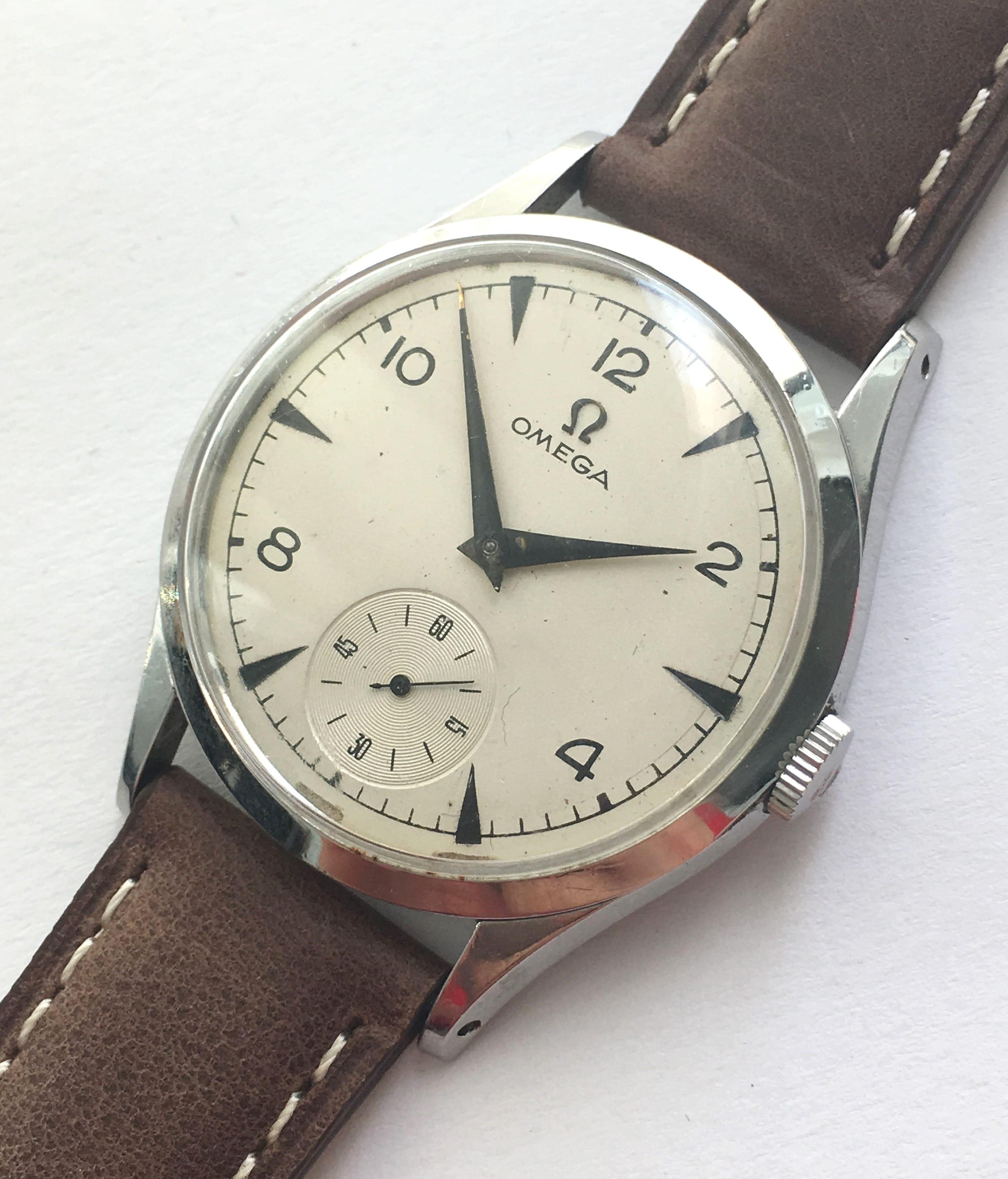 Omega 35mm vintage watch from 1955 vintage portfolio for Omega watch vintage