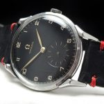Serviced Omega 37mm Oversize Jumbo black dial Vintage