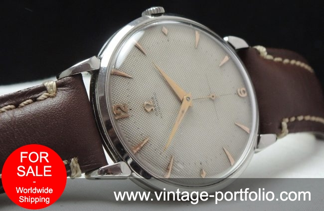 Beautiful Omega 37mm Oversize Jumbo Honeycomb Automatic Vintage