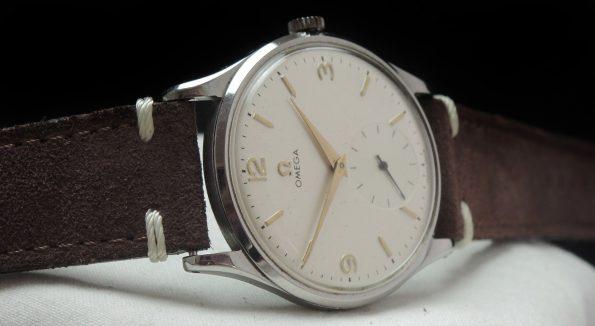 Rare Omega 38mm Oversize Jumbo Vintage white 30t2
