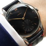 Perfect Omega 38mm Oversize Jumbo Vintage black dial