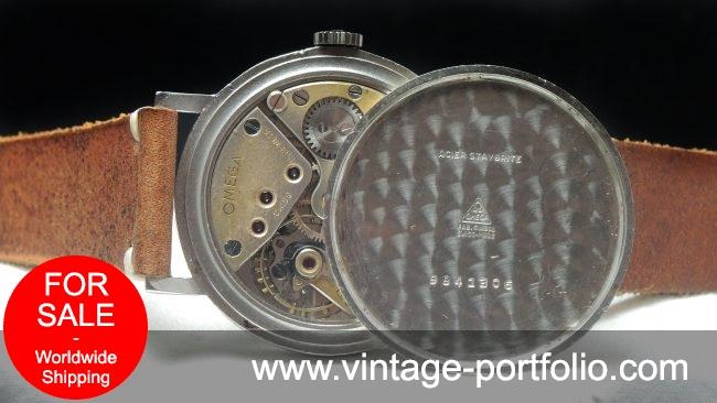 Vintage Omega 38mm Oversize Jumbo Honeycomb 30t2 white