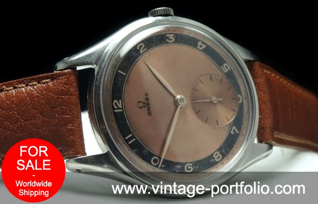 Vintage Omega 38mm Oversize Jumbo Pink Two Tone dial