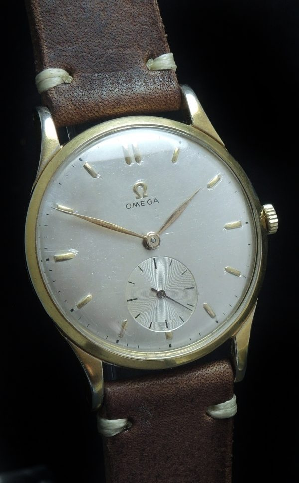 Genuine Omega 38mm Oversize Jumbo Vintage gold plated