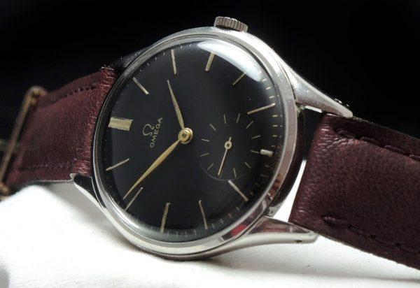 Genuine Omega 38mm Oversize Jumbo black dial Vintage