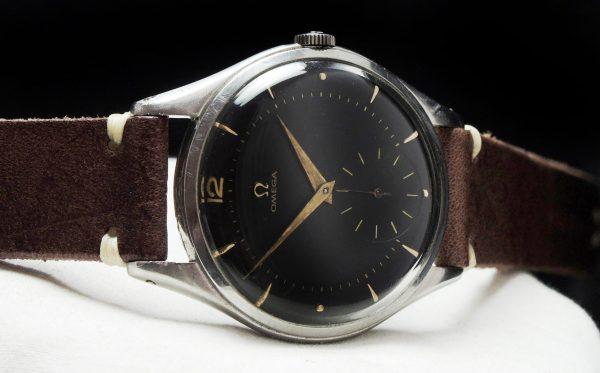 38mm Oversize Jumbo Omega  black dial Vintage