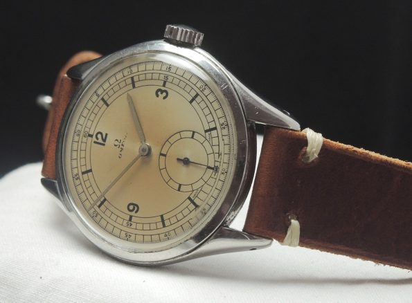Vintage Omega 38mm Oversize Jumbo Sector dial refurbished