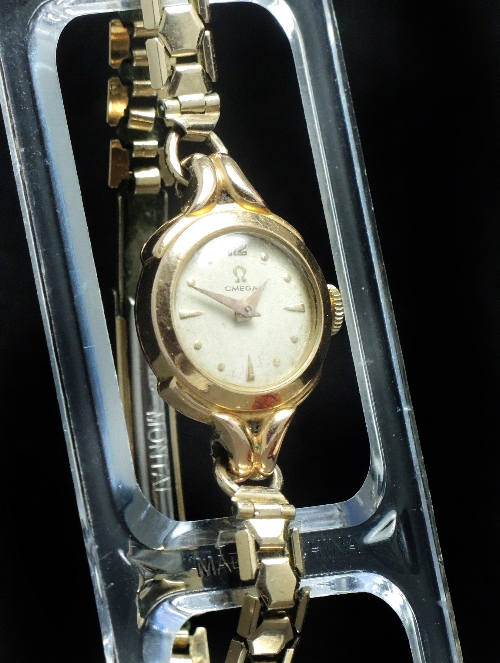 18 Carat Original Omega Damen Uhr In 08nwmn Art Rotgoldvintage Deco HWD2IYE9