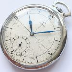 Fantastic Omega Art Deco Pocket Watch Steel Case