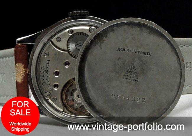 Restaurierte Omega Bullauge 26.5 t3 Military from 1945