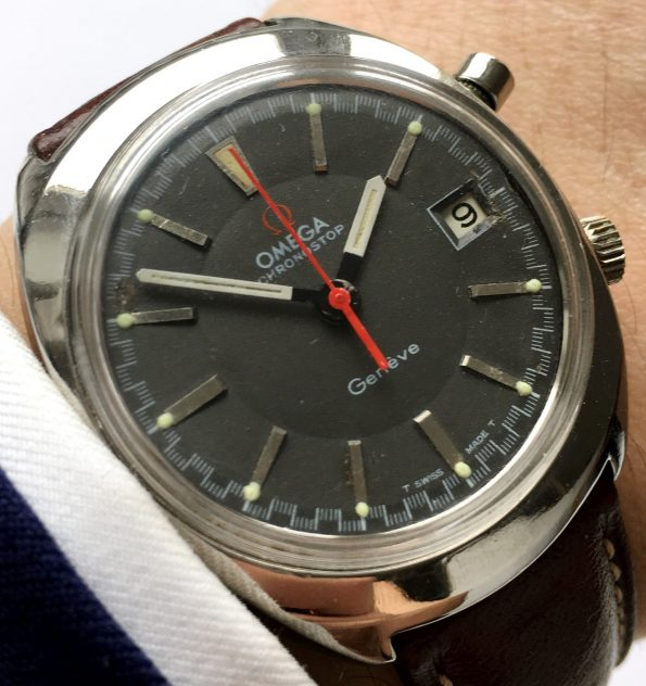 Omega Omega Chronostop Geneve with grey dial