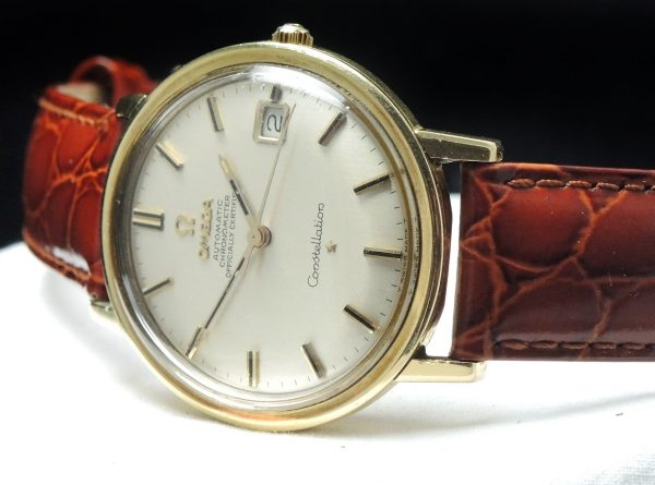 FULL SET Omega Constellation 1967 solid gold with Box and Papers