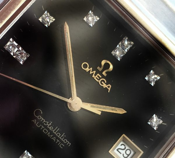Omega Constellation Automatic Black Diamond Dial vintage