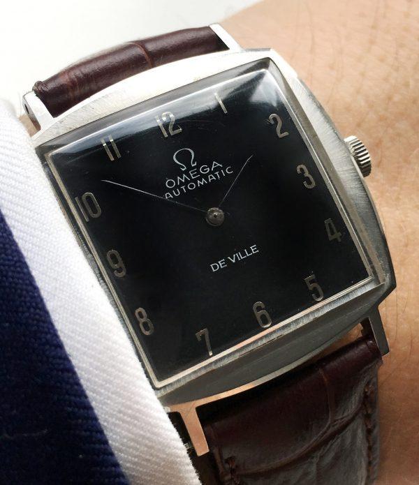 Beautiful Omega black dial De Ville Automatic Ladies