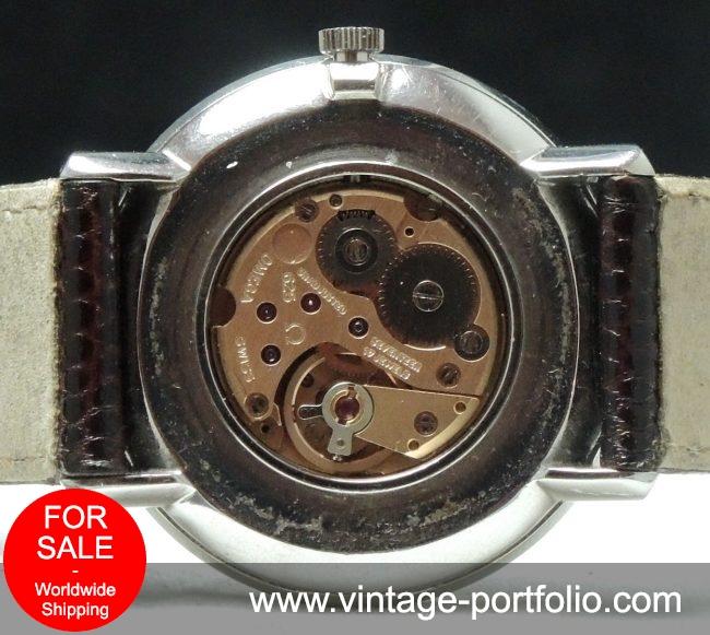 Perfect Omega De Vill Linen Dialed Vintage Watch 33mm